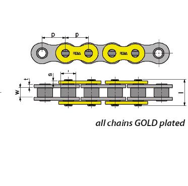 Regina 135ZRT//108 520ZRT-108 DL Gold Chain